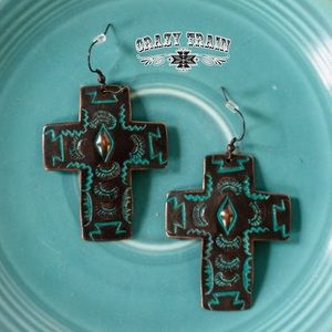 Crazy train blessed love earrings